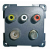 CBE Audio Visual Outlet Panel - 3 RCA sockets, DVD, TV + SAT
