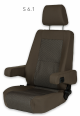 Sportscraft Captain Seat S6.1 Standard fabric & VW Tasamo with adjustable armrests w/lumbar support