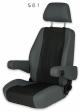 Sportscraft Captain Seat S8.1 frame & foam with adjustable armrest (UNTRIMMED)